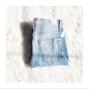 Hudson Zooey High Rise Ripped Denim Jeans SZ24